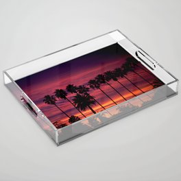 Sunset over Hollywood Acrylic Tray