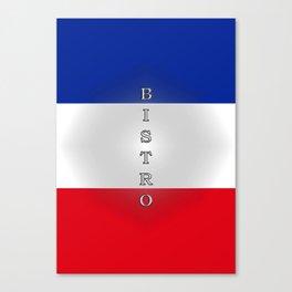 Tricolore Bistro Canvas Print