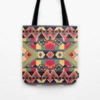 calvin Tote Bags featuring B / O / L / D by Bianca Green