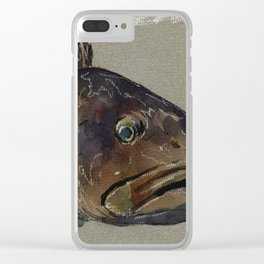 Great grouper fish Clear iPhone Case