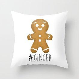 #Ginger Throw Pillow