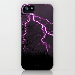 Awesome Lilac Thunder Strike And Ghastly Critter UHD iPhone Case