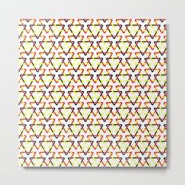 Belgian Triangles Metal Print