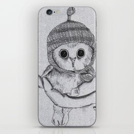 Bobble Hat Owl iPhone Skin