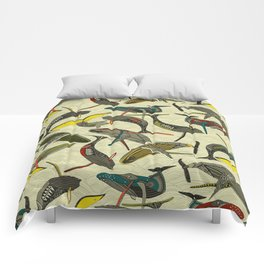 whales and waves bold Comforters