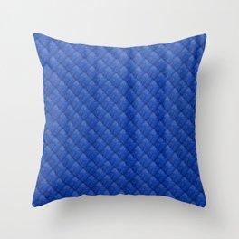 Blue Diamond Pattern Curtain Throw Pillow