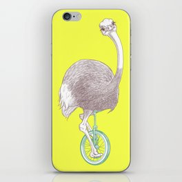 Ostrich on Monocycle iPhone Skin