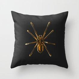 Golden Spider Throw Pillow