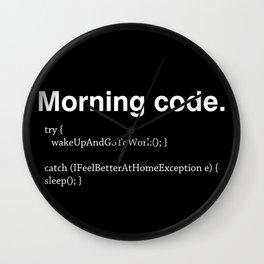 Morning Code Wall Clock