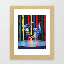 GARO - Twin dance Framed Art Print