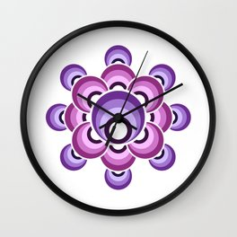 70's Ultraviolet flower Wall Clock