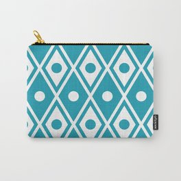 Harlequin Pattern Cerulean Blue Carry-All Pouch
