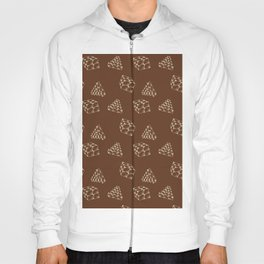 the pyramids and cubes on a brown background . illustration Hoody