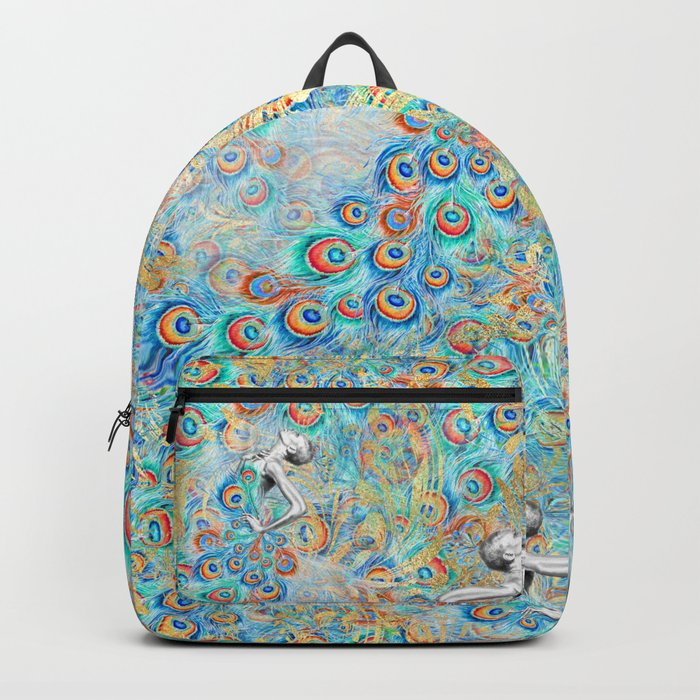 Feather Peacock #13 Backpack