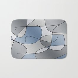 ABSTRACT CURVES #1 (Grays) Bath Mat