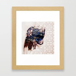 Spotted Lace Framed Art Print