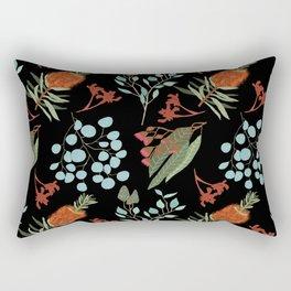 Australian Botanicals - Black Rectangular Pillow