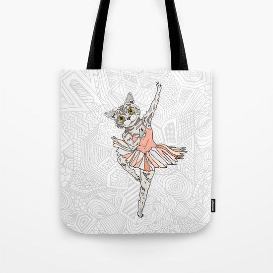 Cat Ballerina Tutu Tote Bag