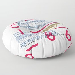 Emirates - Arsenal - Typoline Stadiums Floor Pillow