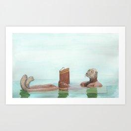 Lutrinae (Nutria, Otter) Art Print