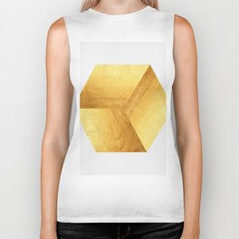 Golden squares Biker Tank