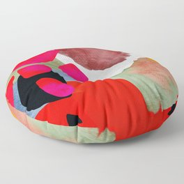 phantasy in red abstract Floor Pillow