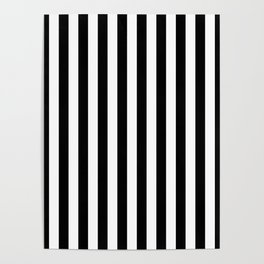 Large Black and White Cabana Stripe Poster