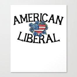 American Liberal Canvas Print