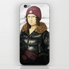 Mona Lisa in winter iPhone & iPod Skin