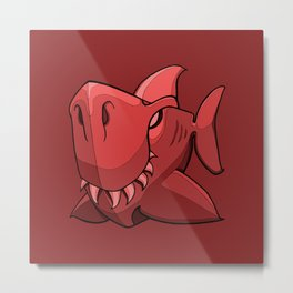 Shark - Chile Oil Red Metal Print