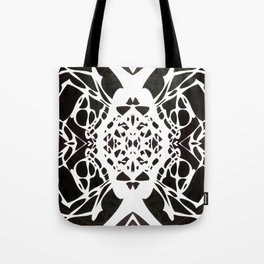 Black and White Ink Blot Tote Bag