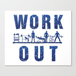 Work Out Canvas Print