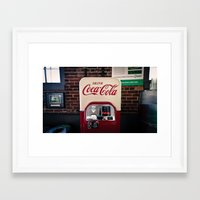 coca cola Framed Art Prints featuring Coca Cola by Bust it Away Photography