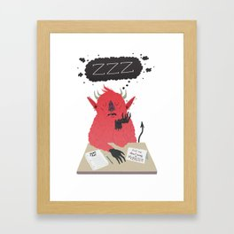 Ask Me About Being a Monster Framed Art Print