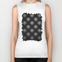 leather Biker Tanks featuring BLACK LEATHER by Smart Friend