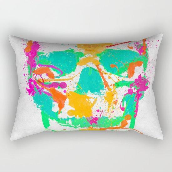 Dead Color Skull Rectangular Pillow