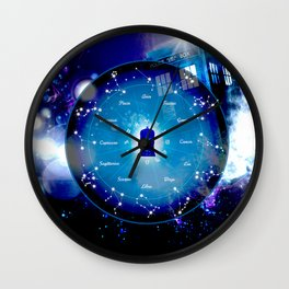 Tardis Horoscopes Wall Clock