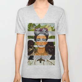 """""""Self Portrait with Thorn Necklace"""" & Joan Crawford Unisex V-Neck"""