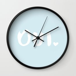 oui #2 Wall Clock