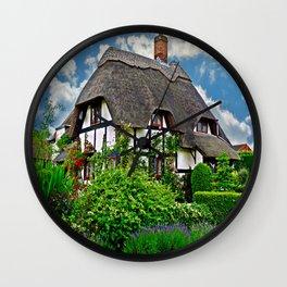 Quaint English Cottage Wall Clock