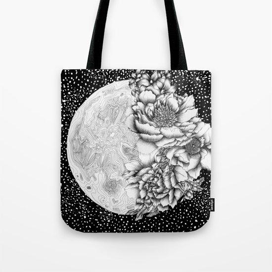 Moon Abloom Tote Bag