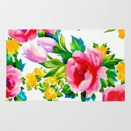 Watercolor Roses Rug