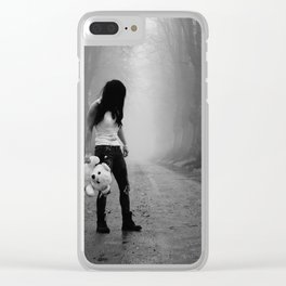 The girl in the woods Clear iPhone Case