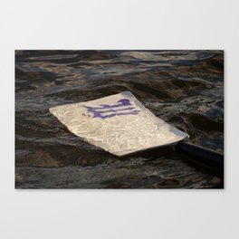 Blade in the Water Canvas Print