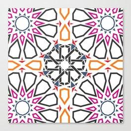 Moroccan Mosaic Colorful Canvas Print