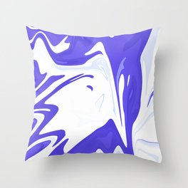 Abstract purple marble pattern Throw Pillow