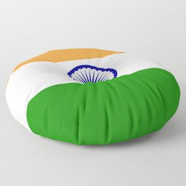 India: Indian Flag Floor Pillow