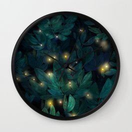 Beautiful leaves with magic lights Wall Clock