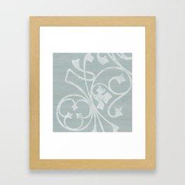 Rejas Grey Framed Art Print