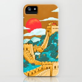 Great Wall of China by Cindy Rose Studio iPhone Case